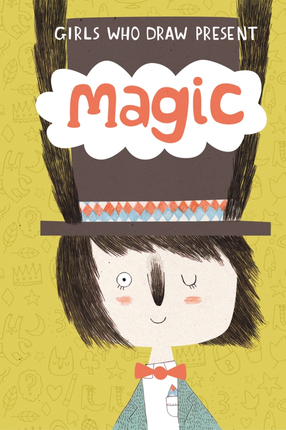 Magic postcard book front cover